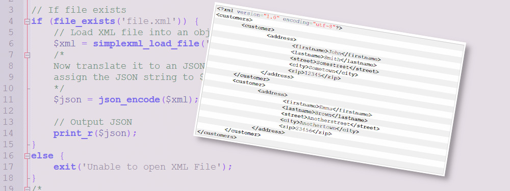 PHP: Convert XML To JSON
